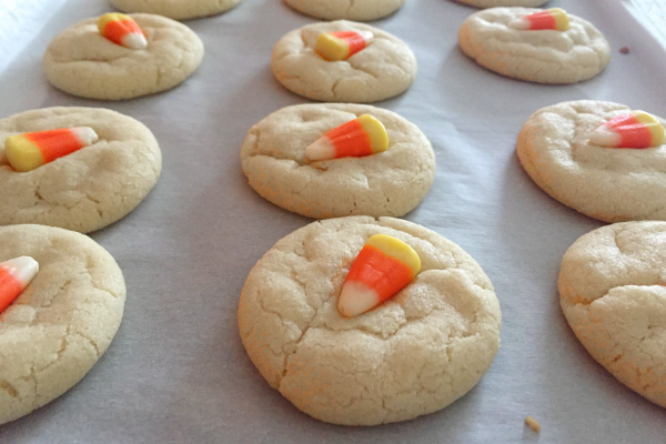 5 Fall Cookie Recipes - Candy Corn Sugar Cookies - The Be Well Place