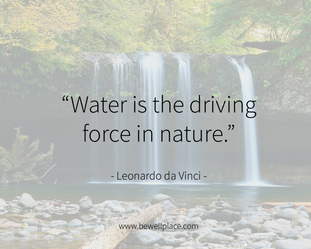 """Water is the driving force in nature."" - Leonardo da Vinci"